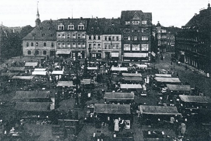 Wochenmarkt am 18. September 1926